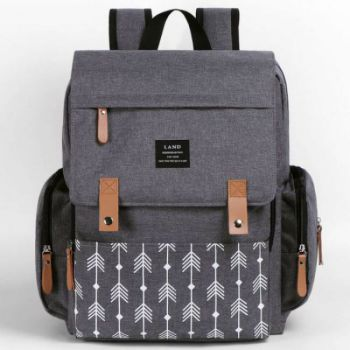 Mochila maternal New Land Gris con Flecha