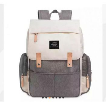Mochila maternal New Land Gris con Crema